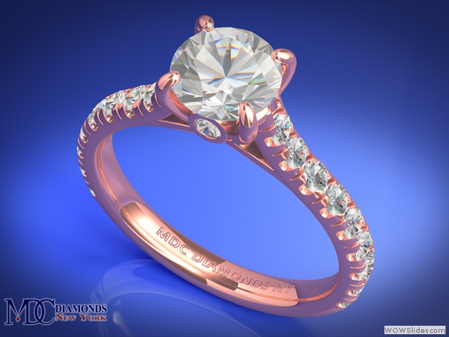 ES655RG Cathedral Surprise Diamond Engagement Ring