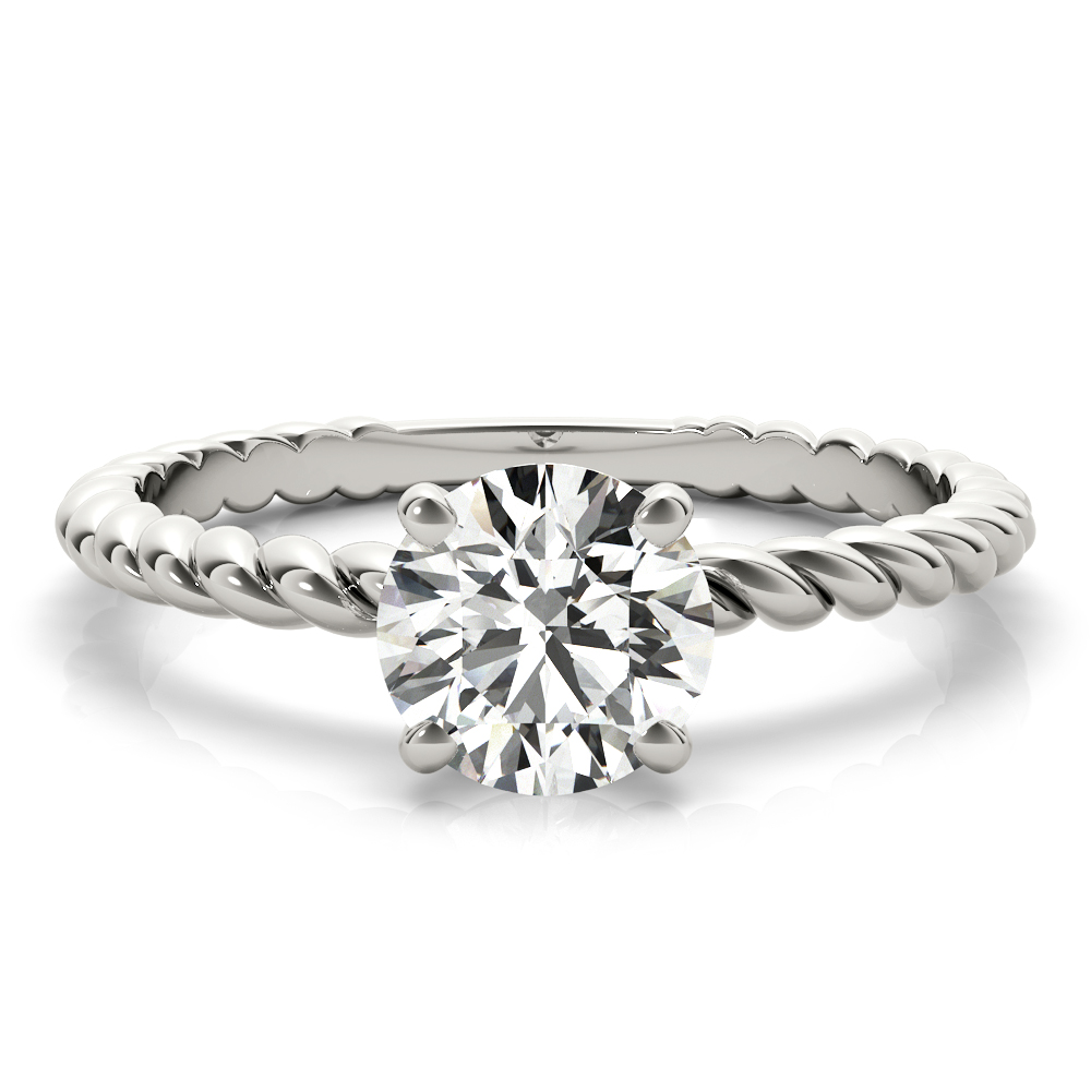 Petite Rope Solitaire Engagement Ring
