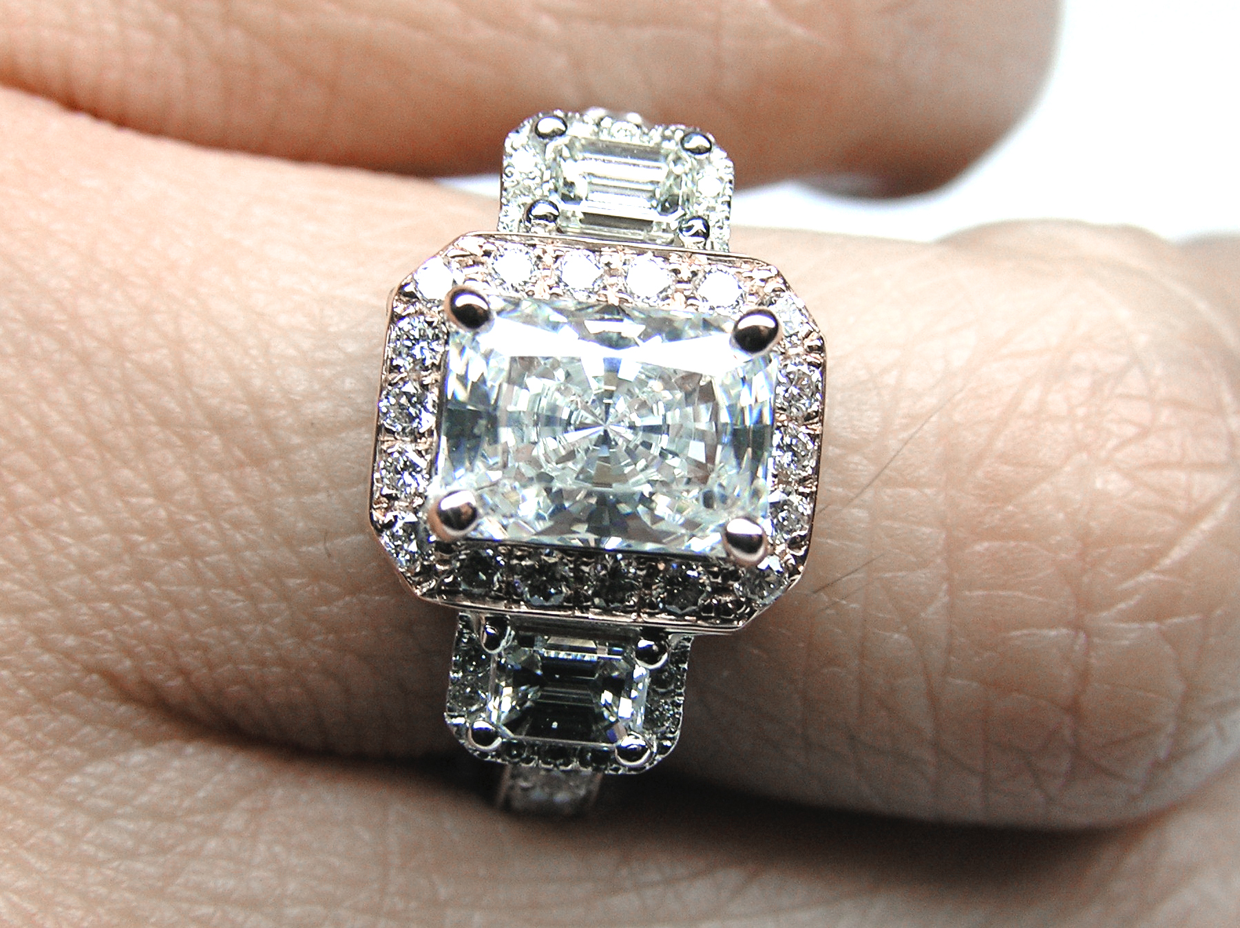Radiant Engagement Rings from MDC Diamonds NYC