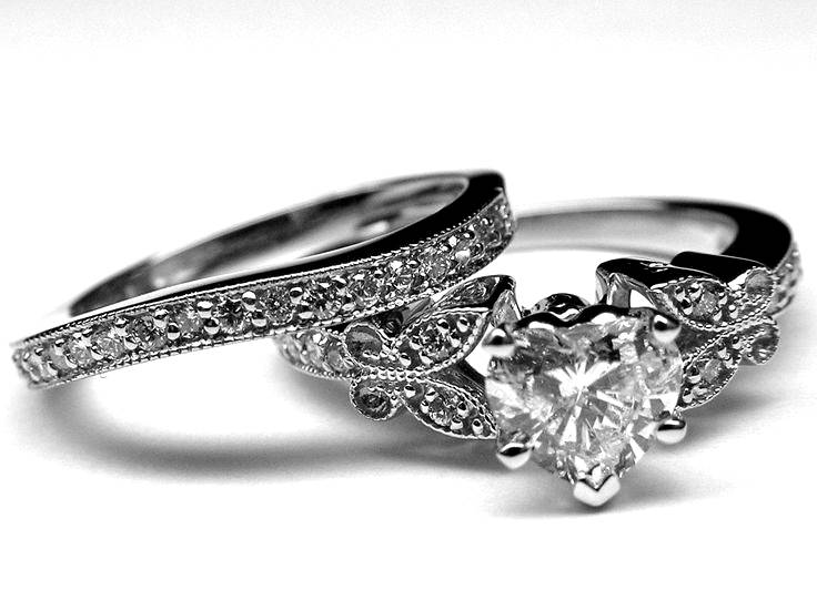 heart enement rings from mdc diamonds nyc - Elvish Wedding Rings